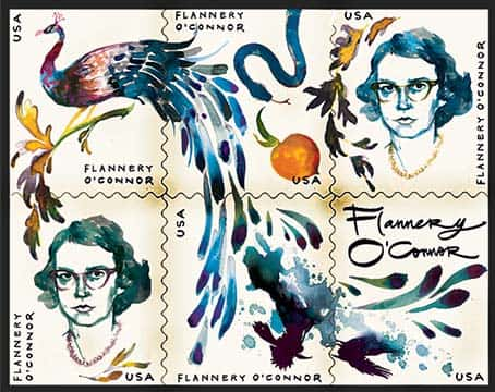 flannery oconnor postage