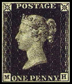 The penny black Stamps